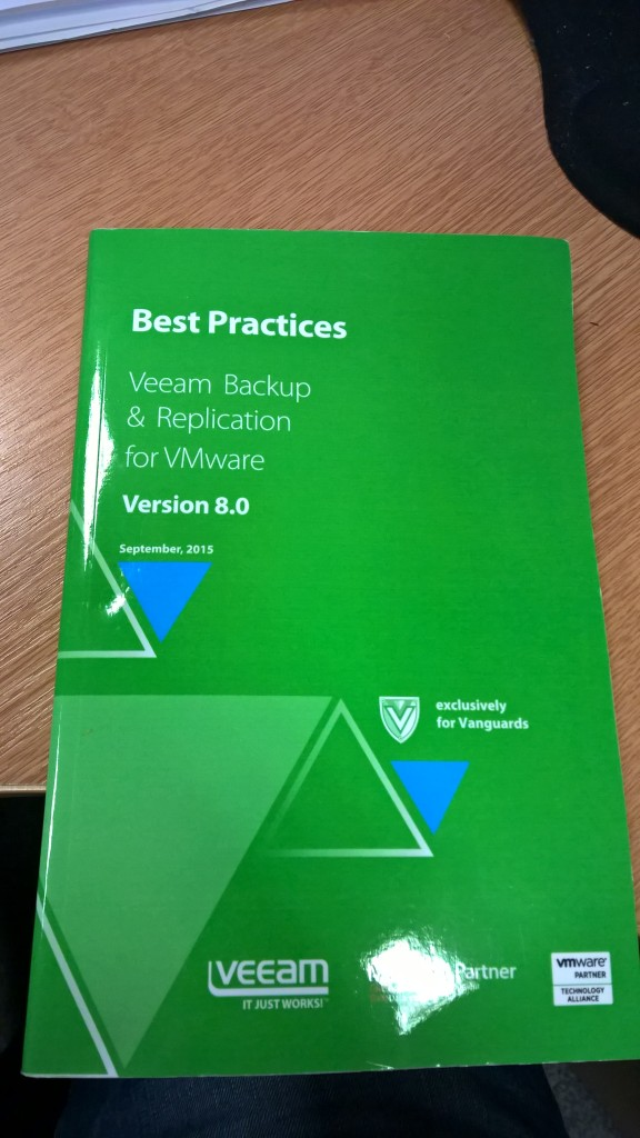 Best Practises – Veeam Backup and Replication for VMware – Version 8.0