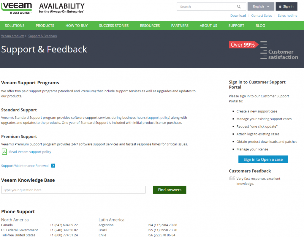 Veeam Customer Support Portal
