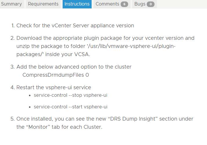 VMware Fling - DRS Dump Insight H5 Plugin - Cragdoo Blog